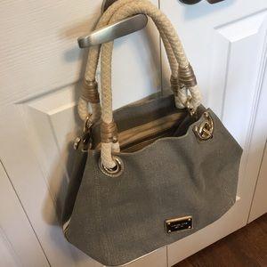 Michael Kors nautical canvas shoulder bag